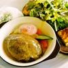 ヴェレゾン - 料理写真:温泉卵のハンバーグプレート1200円