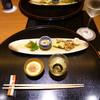 春帆楼 - 料理写真:リンゴジュース、鯛ワタの塩辛、前菜