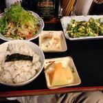 む鉄砲 - ゴーヤチャンプルー定食780円