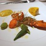 レストラン トライベックス - オマール海老のヴァブール 香草風味