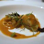 レストラン トライベックス - リコッタチーズのトルテニーニ、オマールエビのソース