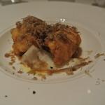 リストランテ テルツィーナ - 料理写真:穴子のフリット ガスパチョのソースとサマートリュフ