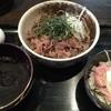 つけそば 周庵 - 料理写真:肉そば(冷) + マグロたたき丼(小)