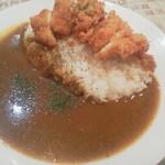 53061074 - カレー+チキンカツ650円(税込)