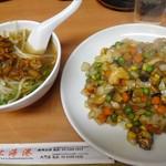 53062272 - 上海港チャーハン+半辣醤麺
