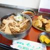 そば処ひふみ - 料理写真:肉そば(冷)とみみなん天