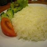 cafeロジウラのマタハリ春光乍洩 - 野菜サラダ、白飯