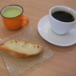 徳光珈琲 - スープにコーヒー、ブレッド。