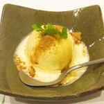 神戸和食 とよき - 甘味~きなこをまぶしたアイスクリーム
