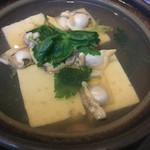 シンスケ - アサリの深川豆腐鍋