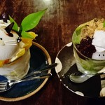 Kotobanohaoto - 『にゃんこパフェ』(800円)と『お抹茶パフェ』(700円)~♪(^o^)丿