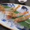 旬魚たつみ - 料理写真:【活もさえび(2匹) 650円】と【活ゴジラ海老(2匹) 980円】