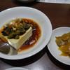 梅蘭 - 料理写真:2016.07 セットのおつまみ、ピータン豆腐とザーサイ
