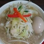 竹ちゃんタンメン - つけ汁(味付玉子サービス)