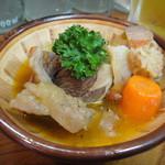 かね将 - 牛スジトマト煮(ハーフ)