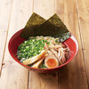 ザボン - 料理写真:冷製ねぎ中華そば 820円 醤油をベースにそた野菜の旨みがたっぷり