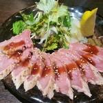 沖ちゃん - だてまぐろ頭肉のタタキ(980円)