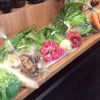 熊本県産野菜を使った、日ごとに替わる限定メニュー