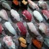 辰寿し - 料理写真:7月3日2人前5500円握り寿司、(塩釜産本マグロ中トロ、ダルマイカ、塩釜産赤身、アラ、イサキ、アジ、ズワイガニ、バフンウニ、イクラ、コハダ)すべて天然で、イクラだけ冷凍物です