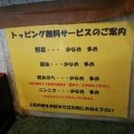 ラーメン二郎 - トッピングの有無は、食券提示時に聞かれるのでご注意を。