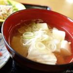 活魚ニューこのり - 2016年5月 春の旬天丼についてくる味噌汁