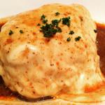 肉バル 将泰庵 - 和牛ハンバーグ、チーズデミグラスソース(^^)