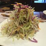 四川料理 蜀彩 - セロリと紫キャベツのサラダ