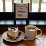 スターバックス コーヒー - 料理写真:ブルーベリーシフォンケーキ&ケニアドリップ