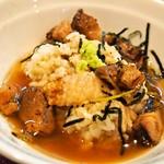 燃えよ 麺助 - 鴨とり飯(紀州鴨そばスープをかけて食べる)