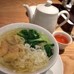 鼎泰豊 - ワンタン麺と無料のジャスミンティ
