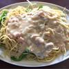 カンダ - 料理写真:スパゲティ ホワイトソース ピーマンオニオン 大盛