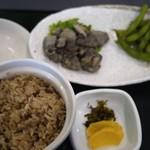 なゝ瀬 - 鶏炭火焼き&枝豆と鶏めし!