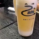 元祖 うな鐡 - 愛川欣也のようなの生ビール=キンキン 570円