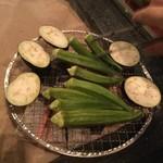 魚秀 - 茄子とオクラ