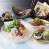 梅林 - 料理写真:7月昼限定 【冷製梅おろしうどんと肉巻きおにぎり】