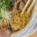 マルショウ - 中細平打ち麺