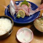 おはよう堂 - 2013年9月 鯛刺身定食
