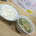 ふみや食堂 - 料理写真:ごはん中・とん汁