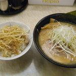 五衛門 - ラーメン(600円+クーポンでネギライス250円無料)