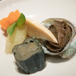 藤吉 - 2016.7 炊き合わせ(渡りガニを食べる会 6,900円)