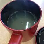 いずみ - 蕎麦湯です
