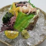 榮料理店 - 近海シャコ貝の刺身