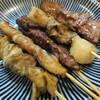 金時 - 料理写真:やきとん(シロ、カシラ、なんこつ、タン、ハツ)
