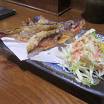 みつ子ばぁばの台所 - 沖縄県魚「グルクン唐揚げ」(¥490)