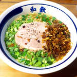 53326538 - にらそば(¥650)。全体をよく混ぜて食べるのが正解!