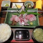 屋久どん - お刺身定食(飛魚、アカバラ)