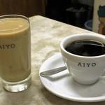 愛養 - ドリンク写真:ホットミルクコーヒーと珈琲 各450円