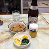 お食事 まるやま - 料理写真:中瓶ビール500円とがんもの煮付け200円