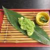洗心庵 - 料理写真:笹の葉に載ったずんだ餅!!