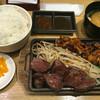 天神ホルモン - 料理写真:牛ハラミ&ホルモン定食